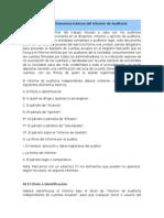 Elementos Básicos Del Informe de Auditoría
