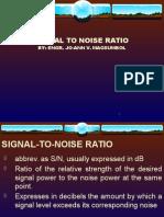Est Signal to Noise