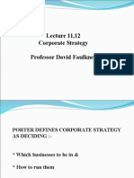 Lect11 12 Corporate Strategy