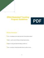 ERAA Traveling Basketball Program Guidelines Updated 9.17.2014