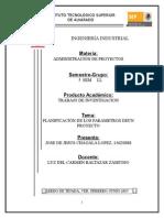 Planificacion de Los Parametros de Un Proyecto