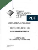 Auxiliar Administrativo Chguv 2011