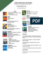 Lista Livros Ensino Medio