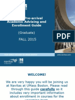 Navitas Pre-Arrival Enrollment Guide 1503 Graduate PMP