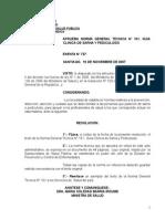 Parasitosis. MINSAL Chile