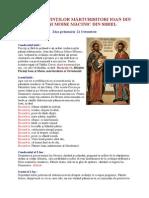 Octombrie 21 - Acatistul Sfinţilor Mărturisitori Ioan Din Galeş Şi Moise Măcinic Din Sibiel