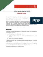 Proposta Organitzativa - Guanyar Alcoi
