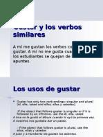 gustar y los verbos similares