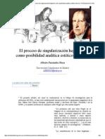 Alberto Fernández Hoya_ El Proceso de Singularización Hegeliano Como Posibilidad Analítica Estético-literaria -Nº 32 Espéculo (UCM)