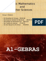 Arab Mathematics and Other Sciences
