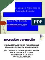 Fundamentos Legais e Filosóficos Da Inclusão Na Educação Especial