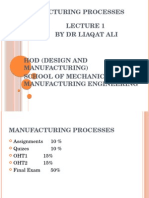 Manufacturing processes types