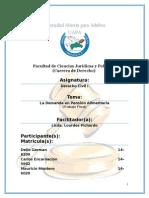 Demanda en Pension Alimentaria (Trabajo Final)