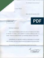 Carta del Presidente de la HCDN