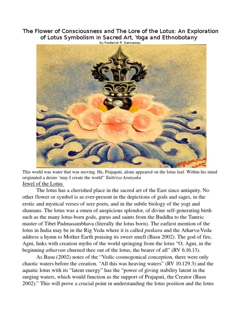 The Flower Of Consciousness And The Lore Of The Lotus An