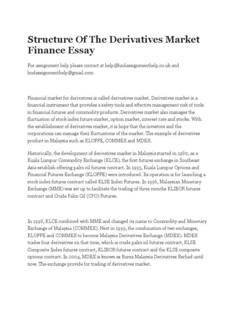 essays on pricing commodity derivatives  essays on pricing commodity derivatives