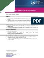 BRIEF Curso Taller Actualización de La Norma ISO 9001 en Su Versión 2015 Lima Noviembre
