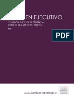 Resumen Ejecutivo Informe Comision Asesora Presidencial sobre el Sistema de Pensiones