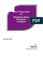 NALA Policy on Workplace Basic Education