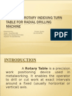 Rotary table for radial drilling machine