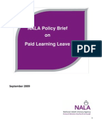 NALA Policy on Paid Learning Leave