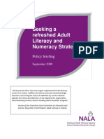 NALA Policy Paper Seeking a Refreshed Adult Literacy and Numeracy Strategy
