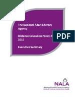 NALA Distance Education Policy 2007-2010 Executive Summary