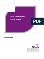 NALA Policy on Family Literacy