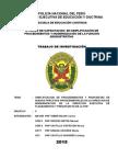 Monografia Procedimientos Administrativos de La Direccion de Modernizacion