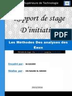 Rapport de Stage (Les Méthodes Des Analyses Des Eaux)