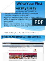 How to Write Your First University Essay