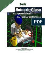 Mis Notas de Clase -Cálculo Integral 13 de Septiembre de 2015