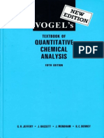 Vogel's Textbook of Quantitative Chemical Analysis