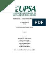 Evaluacion y Elaboracion de un proyecto