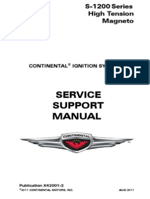 continental magneto 1200 series pdf | Ignition System