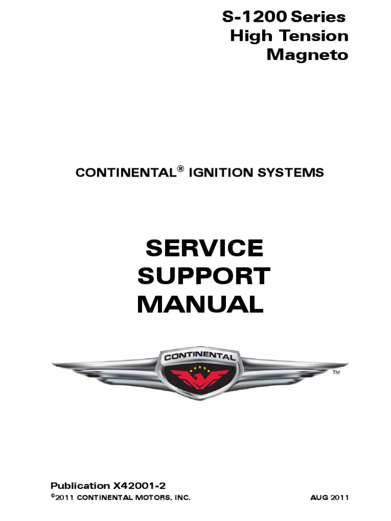 continental magneto 1200 series pdf   Ignition System   Distributor