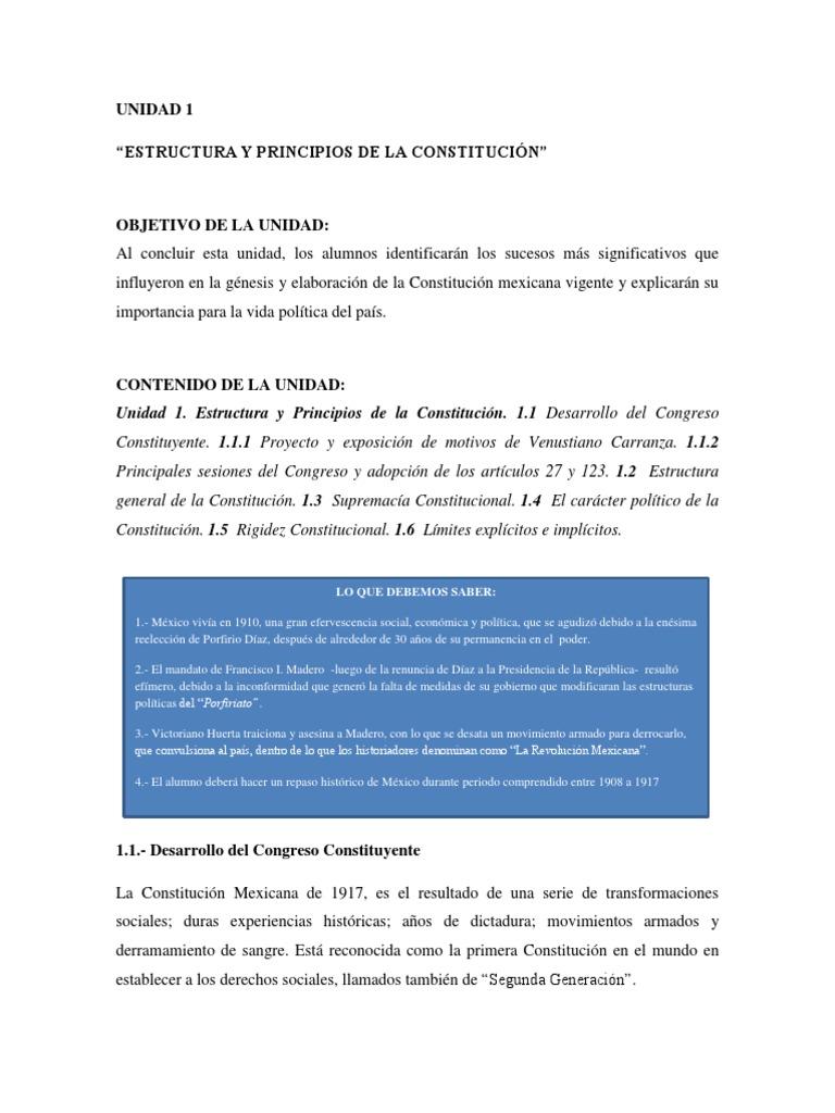 Unidad 1 Der Constitucional G E J Rev 1o Sept