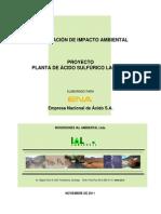DIA Planta Acido Lagunas