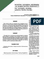Los Sistemas Observantes Conceptos Estrategias y Entrenamiento en Terapia Familiar Sistémica