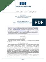Ley Orgánica 10-1995, De 23 de Noviembre, Del Código Penal.