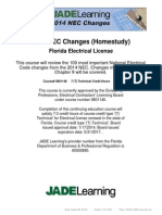 2014-2017 National Electric Code Changes (Homestudy) - Forida