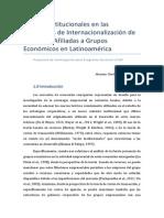 Lógicas Institucionales en las Estrategias de Internacionalización