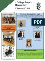 Newsletter - 9.1.2015