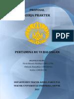 Proposal KP Pertamina Balongan 2015