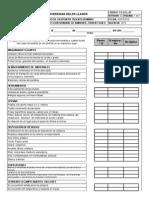 Fo-gth-107 Formato Inspeccion Semanal de Ambiente, Orden y Aseo