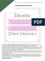 Cupcakecreativo.com-Receta de Galletas de Mantequilla Para Decorar
