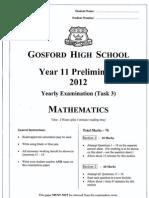 Mathematics Yearly Exam