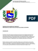 Venezuela Rechaza Declaraciones Injerencistas Del Gobierno de Chile[1]
