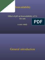 BioavailabilityNiquel Suelo y Solucion