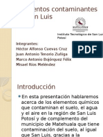 Elementos Quimicos Contaminantes en San Luis